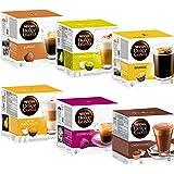 Nescafé Dolce Gusto Basic-Set: Lungo, Cappucino, Latte Macchiato, Espresso, Chococino, Crema Grande, 6 x 16 Capsules