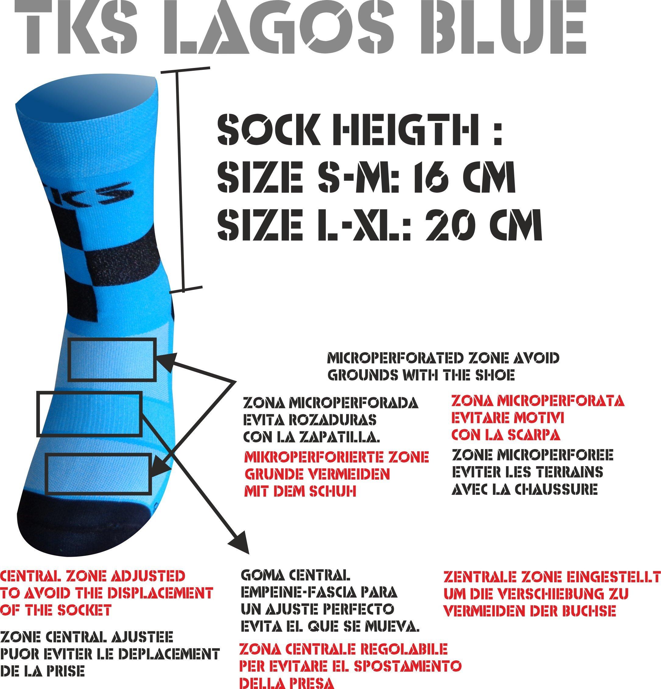 TKS Calzini Hi Cut Altezza Tradizionale Lagos. Calze specifiche per Il Ciclismo