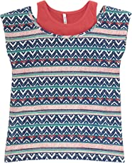 Poppers By Pantaloons Girls' Tribal Regular Fit T-Shirt