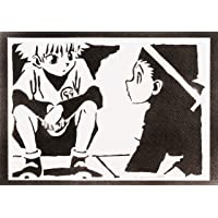 Poster Hunter x Hunter Killua Zoldyck e Gon Freecss Handmade Graffiti Street Art - Artwork