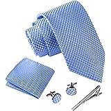 Massi Morino Cravatta uomo I Gemelli e Fazzoletto e fermacravatta I Eleganti confezione regalo