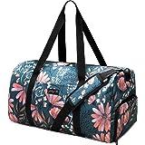 Jadyn B Weekender Bag - 56 cm./ 52L Sporttasche mit Schuhfach (Navy Floral)