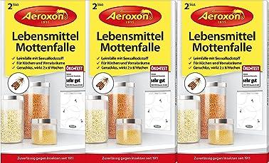 AEROXON Lebensmittelmottenfalle - Dreierpack = 6 Stück