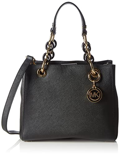 Michael Kors Women's Cynthia Small Leather Satchel Top-Handle Bag ...