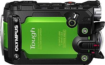 Olympus TG-Tracker Actionkamera (stoßfest, Wasserdicht bis 30m, belastbar bis 100kg, frostsicher bis -10 C°, staubgeschützt) mit GPS, Barometer, Temperatursensor, Kompass und Accelerometer - grün