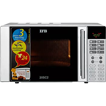 IFB 20 L Convection Microwave Oven (20SC2, Metallic Silver)