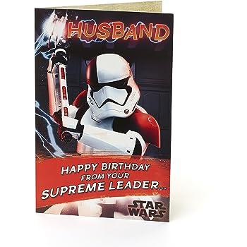 Star Wars Husband Birthday Card Amazon Toys Games