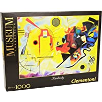Clementoni- Kandisky-Giallo Rosso e Blu Museum Collection Puzzle, 1000 Pezzi, 39195