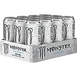 Monster - Energy Ultra - Energy Drink - 12 pakjes - 500 ml per pakje - Energy booster - Minder zoet - Lichter van smaak - Zon