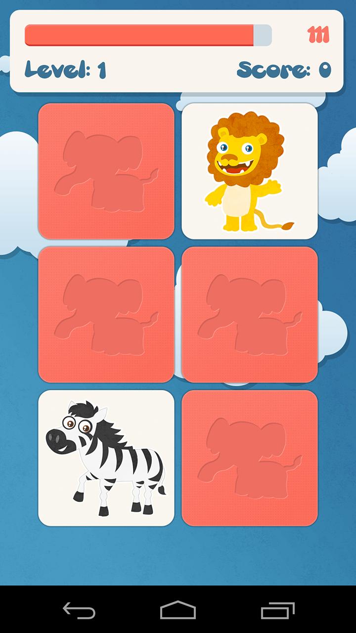 Tiere Memory-Spiel für Kinder - 3