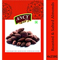 Ancy Foods Premium Dry Fruits (Almonds Roasted & Salted 1kg)(Pack of 4x250g)