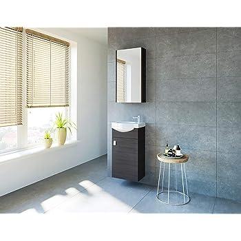 Gäste WC Badmöbel Set, WT Waschbecken mit Unterschrank in