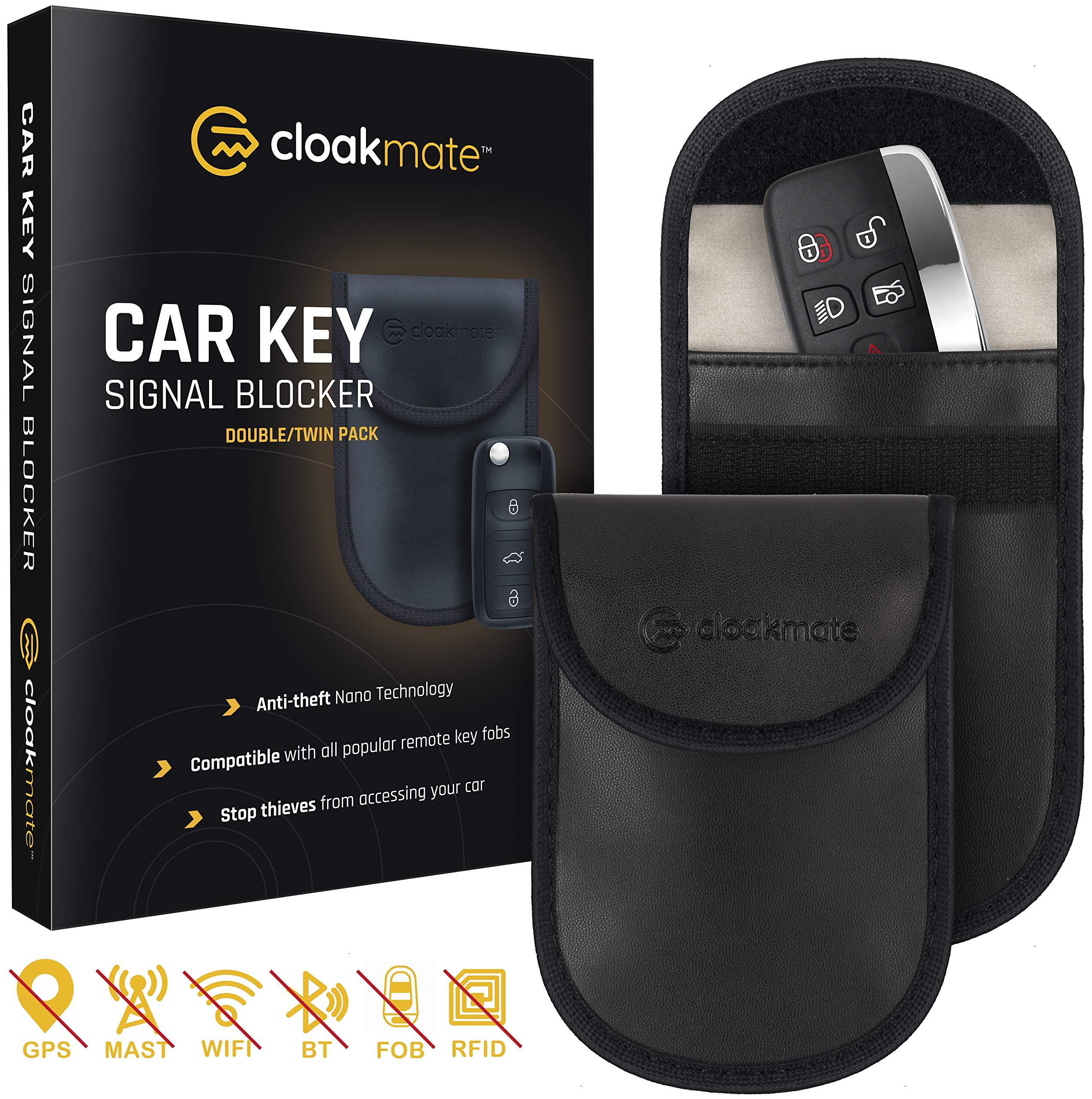 2X CAR KEY FOB SIGNAL BLOCKER FARADAY POUCH KEYLESS ENTRY RFID BLOCKING CASE