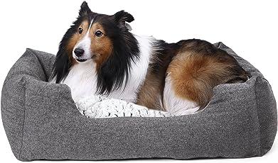 SONGMICS Hundebetten innenkissen Beidseitig Verwendbar mit unten einen Anti-Rutschboden S/M