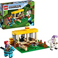 LEGO Minecraft La Scuderia, Fattoria Giocattolo per Bambini di 8 Anni con la Minifigure dello Scheletro a Cavallo, 21171