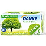 Danke Papier toaletowy, 2 sztuki (2 x 8 rolek)