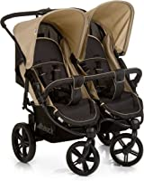 Hauck Roadster DUO SLX T13, Double Pushchair, 0M+ to 15 kg - Caviar Almond