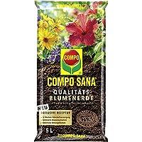 Compo SANA Qualitäts-Blumenerde mit 12 Wochen Dünger für alle Zimmer-, Balkon- und Gartenpflanzen, Kultursubstrat, 5…