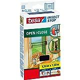 tesa Insect Stop Comfort Open/Close Vliegenhor - Rolhor - Raamhor met klittenband - Speciaal oprolsysteem, snij op maat - Mug