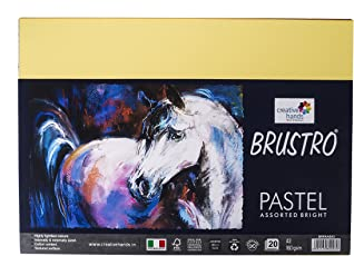 Brustro Artist's Pastel Papers 160 GSM A3 Assorted Bright (Pack of 20 Sheets)