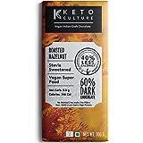 Keto Culture - Hazelnut Vegan Dark Chocolate (Pack of 1) - Sugar Free - Stevia Sweetened - Made with Organic Indian Cacao bea