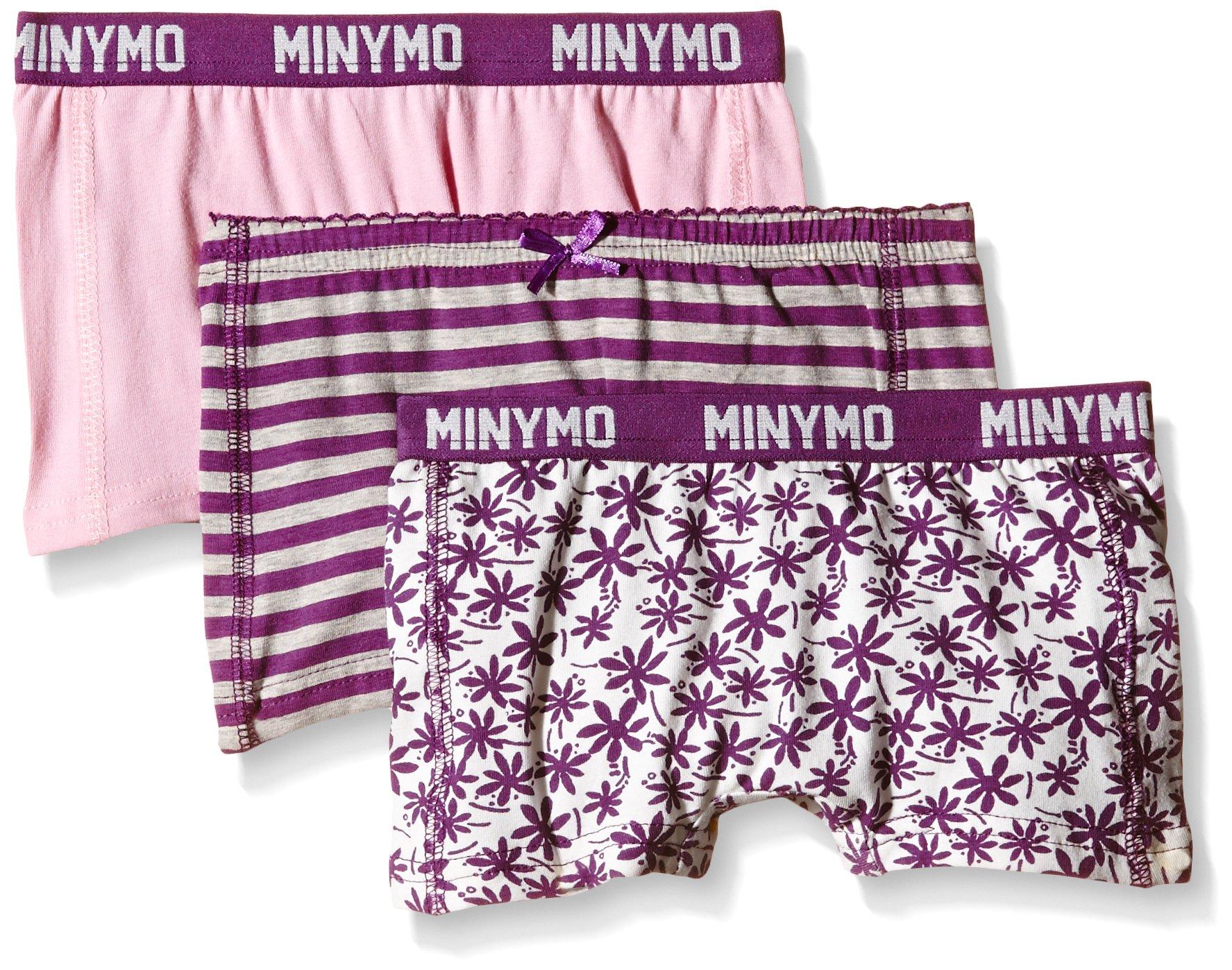 Minymo Chen 65-Hipster (3-Pack), Slip Bambina, Multicolored (Purple Passion), 18-24 Mesi