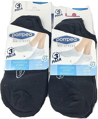 POMPEA 6 Paia minicalza fantasmini Cotone Fitness