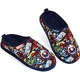 Avengers Mens Slippers with Iron Man & Captain America Shield Marvel Merchandise