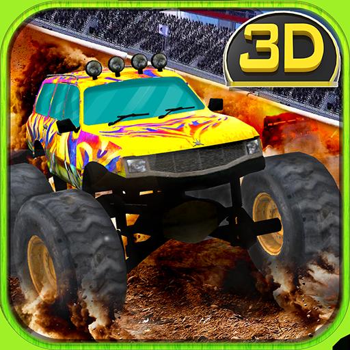 Moderne Truck Stunt Driver 3D (Schneemobil-rennen)