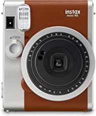 Fujifilm Instax Mini 90 Film Camera Designed With a Classic Look Instant Camera ( Available in Black & Brown Color) (Brown)