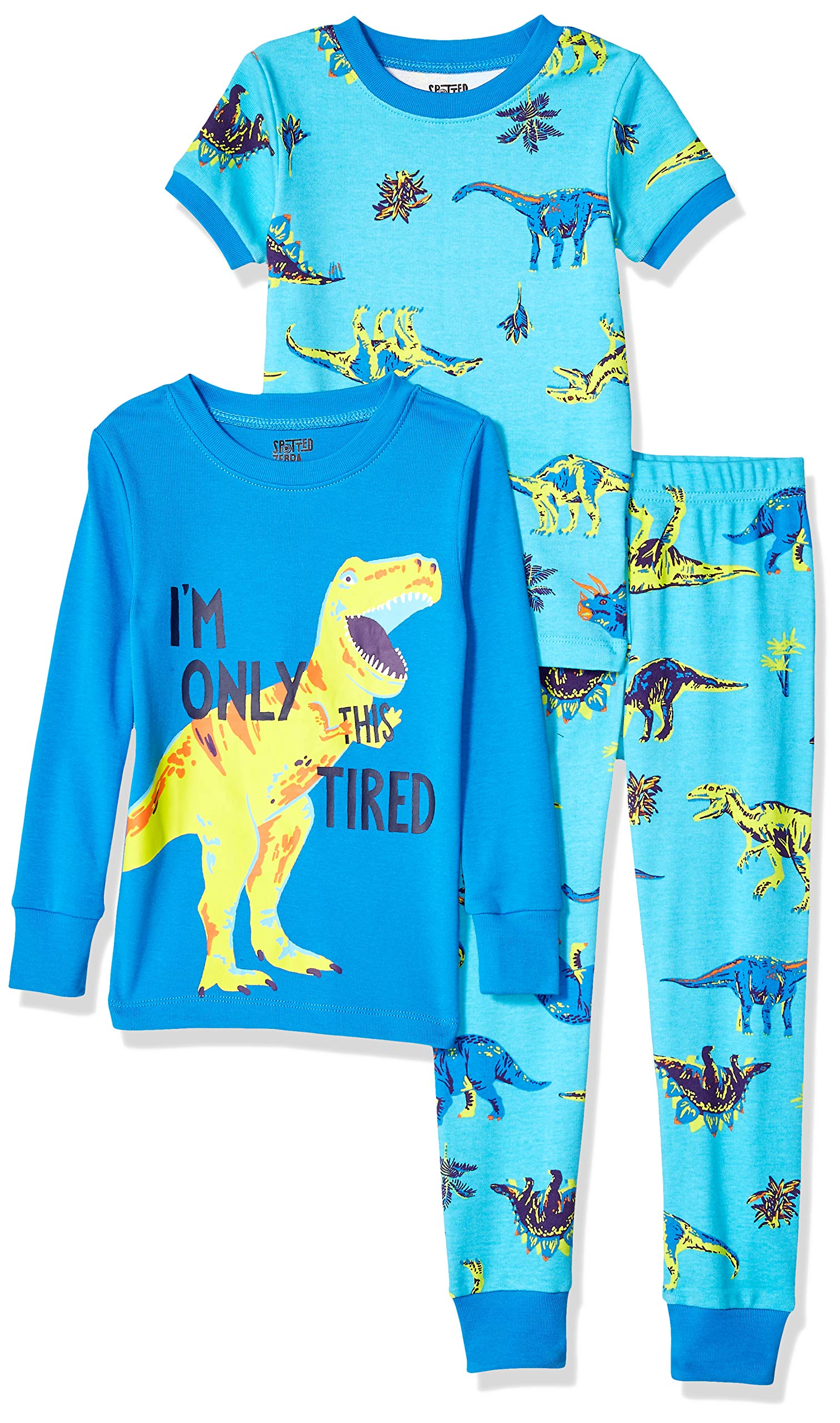 Marca Amazon - Spotted Zebra 3-Piece Snug-fit Cotton Pajama Set Unisex niños, Pack de 3 1