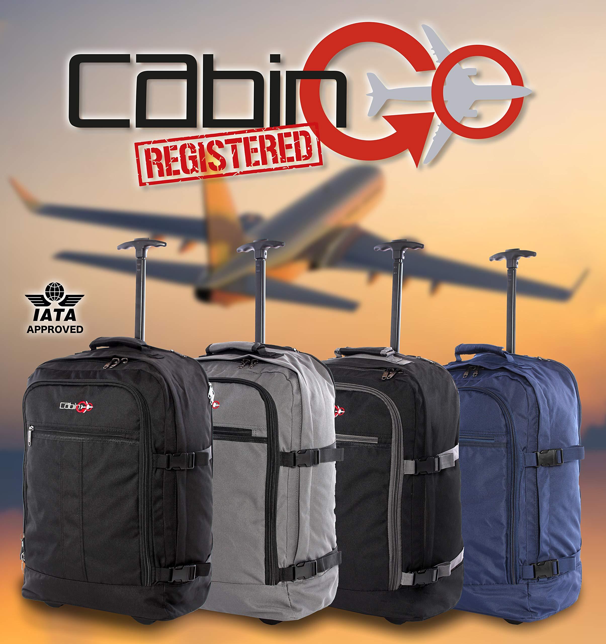 CABIN-GO-cod-MAX-5520-Trolley-Handgepck-Rucksackleichte-Reisekabine-55-x-40-x-20-cm-44-Liter-mit-Rollen-Zugelassener-Flug-mit-IATAEasyJet-Ryanair