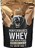 nu3 - Whey Protéines Performance / 1kg / Cookies & Cream / Proteine destinée à la prise de masse musculaire / Excellente solubilité et délicieuse saveur cookies / Haute teneur en proteines