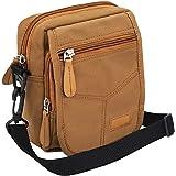 Storite Mini Canvas Neck/Waist Pouch Sling Cross Body Travel Office Messenger one Side Shoulder Bag for Men & Women-(14 cm x
