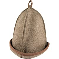 """DIYer® - Premium Saunahut - Farbe""""braun"""" - Für kleinen Kopfumfang: Hut fällt sehr klein aus! - inkl. Sauna-Ratgeber - 100% Baumwolle - Filz Saunamütze"""
