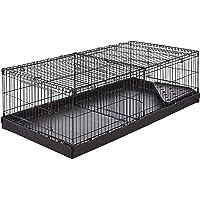 AmazonBasics Canvas Bottom Pet Cage with Divider Set, Black
