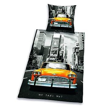 Herding 445960050412 Bettwäsche New York Taxi, Kopfkissenbezug: 80 ...