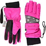 Playshoes Finger-Handschuhe Schneeflocken Guantes para Clima Fro, Pink Copo de Nieve, 5 Unisex niños