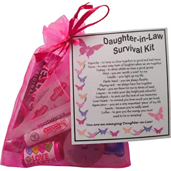 SMILE GIFTS UK Daughter In Law Survival Kit Gift Great Present For Wedding