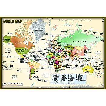 World political map hd pixel on hi quality paper 24x36 print amazon world political map hd pixel on hi quality paper 24x36 print gumiabroncs Gallery