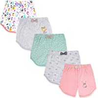 The Boo Boo Club Baby Girl Cotton Shorts, Half Pants - Pack of 5