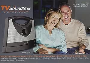 serene innovations tv soundbox wireless tv speaker