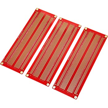 Half Size GeeekPi Proto Breadboard PCB Board Gold Plated Experimental Breadboard Soldering Board Double-Sided PCB DIY Kit for Arduino Pack of 5PCS