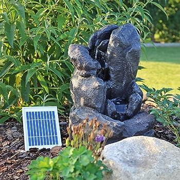 Solar Springbrunnen NSP7 Solarbrunnen mit Akku und LED Beleuchtung ...