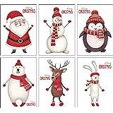 ArtUp.de 12 Weihnachtskarten | Set mit 6 außergewöhnlichen Motiven | DIN A6 Postkartenformat | edel fein exklusiv lustig | Rückseite weiß - Platz für Weihnachtsgrüße | Grußkarten Weihnachten