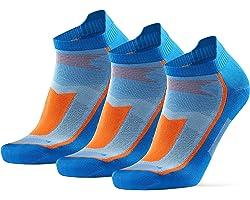 DANISH ENDURANCE Calcetines de Running Deportivos Low Cut Pro, para Hombre y Mujer, Cortos, Antideslizantes, Invisibles, Tobi