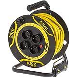 Stanley SXECDL26BSE Enrouleur de câble électrique, Noir