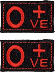 Biker Patches Embroidered Sew On (4.5 cm x 3 cm x 2 cm, Black & Red, Set of 2)