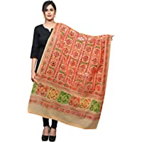 Banjara India Women's Cotton Embroidered Kutchi Dupatta Bharchak