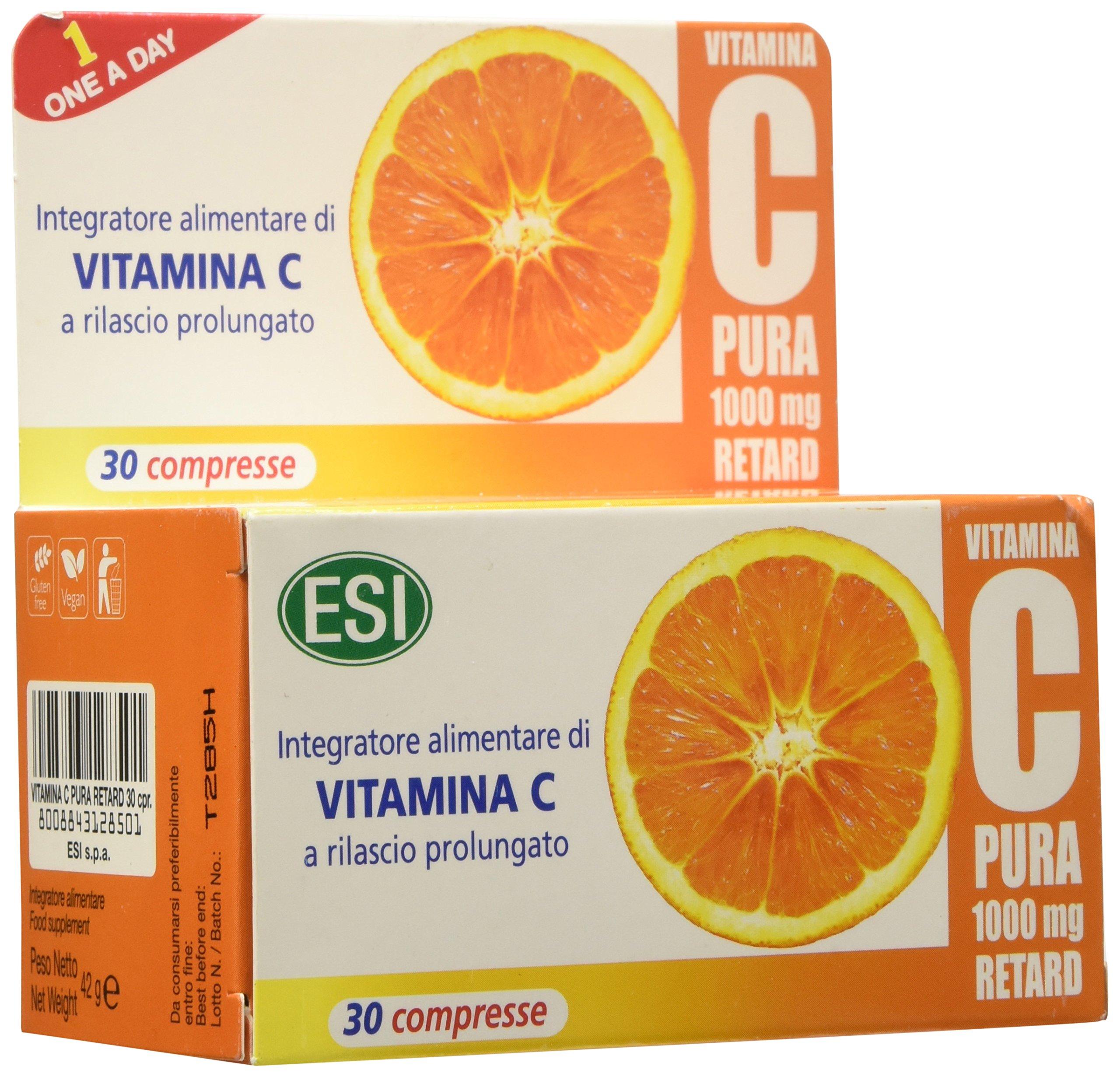 Vitamina C Pura 1000 mg Retard - 30 Compresse 1 spesavip